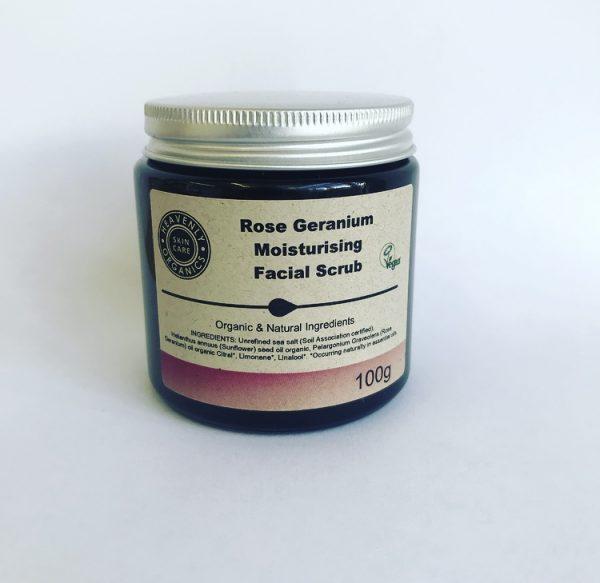 Heavenly Organics Rose Geranium Moisturising Facial Scrub
